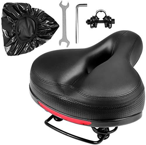 Puroma Bicycle Saddle Dual Spring Designed Suspension Shock Absorbing, Leather Bike Seat...