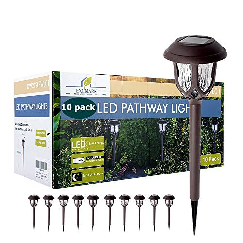 10 Pack Solar Lights Outdoor Decorative, Solar Pathway Lights Outdoor, Solar Powered...