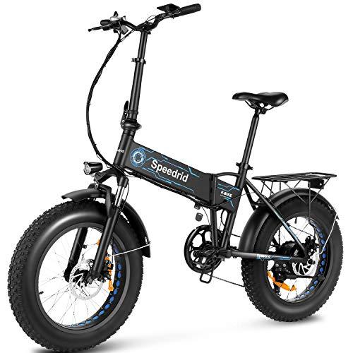 Speedrid Folding Electric Bike Fat Tire Electric Bike 20' 4.0, 500W Powerful Motor, 36V...