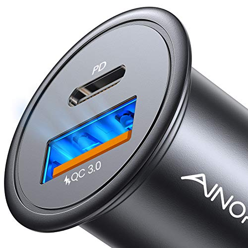 Car Charger USB C, AINOPE USB C Car Charger 36W PD&QC 3.0 Car Charger Fast Charge Adapter...