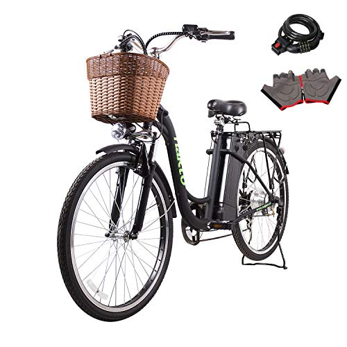 Nakto 26' 250W Cargo-Electric Bicycle 6 speed e-Bike 36V Lithium Battery Aadult/Young...