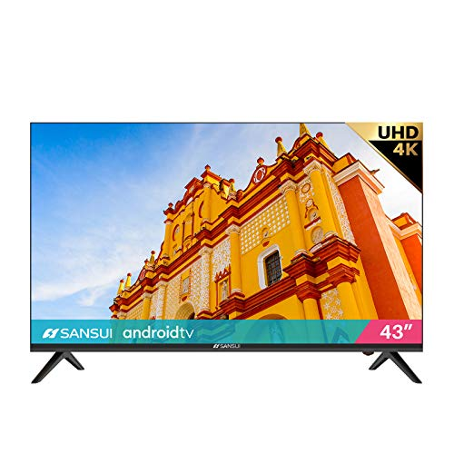 SANSUI ES43S1A, 43 inch UHD HDR Smart TV with Google Assistant (Voice Control), Screen...