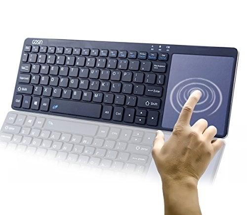 Gosin Wireless Keyboard, Ultrathin All in One Metal Bluetooth Keyboard Touchpad for Mobile...