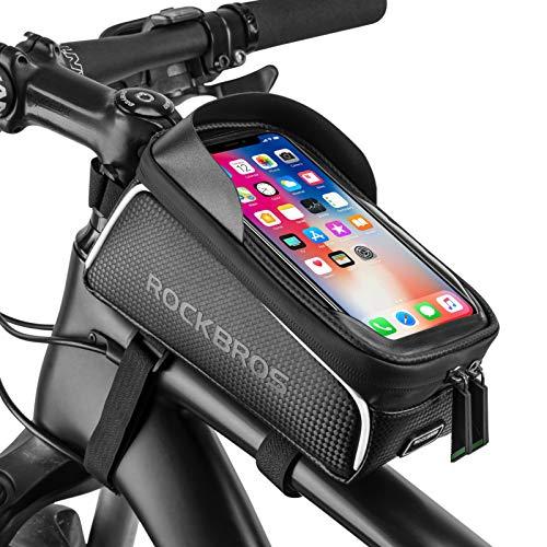 Bike Phone Front Frame Bag Bicycle Bag Waterproof Bike Phone Mount Top Tube Bag Bike Phone...