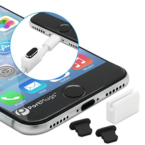 PortPlugs Anti Dust Plugs (2 Pack) Aluminum - Compatible with iPhone 11, X, XS, XR, 8, 7,...
