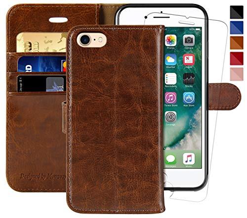 iPhone 7 Wallet Case/iPhone 8 Wallet Case/iPhone SE 2020 Case,4.7-inch,MONASAY [Glass...