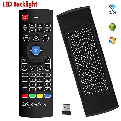 Air Mouse,MX3 Pro Backlit Mini Keyboard Remote Control,Mini Wireless Keyboard &...