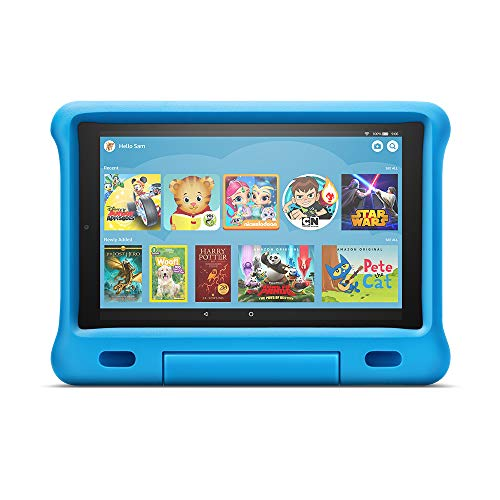 "Fire HD 10 Kids Edition Tablet – 10.1"" 1080p full HD display, 32 GB, Blue Kid-Proof..."