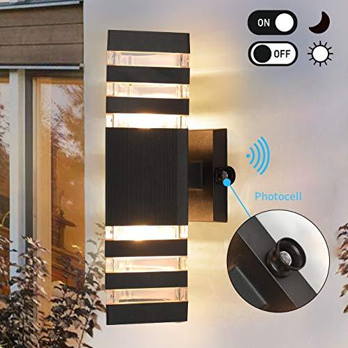 Dusk to Dawn Sensor Outdoor Wall Lights Modern Exterior Wall Sconce Porch Light Fixture,...