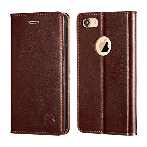 Belemay iPhone 8 Wallet Case, iPhone 8 Case, Genuine Cowhide Leather Flip Case [Slim Fit]...