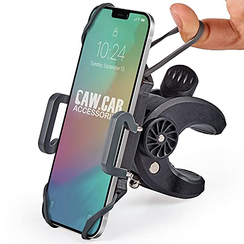 Bike & Motorcycle Phone Mount - for iPhone 12 (11, Xr, SE, Plus/Max), Samsung Galaxy S21...