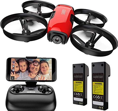 SANROCK U61W Drones for Kids with 720P HD Camera, Mini RC Drone Quadcopter, Support...