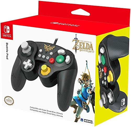 HORI Nintendo Switch Battle Pad (Zelda) GameCube Style Controller - Nintendo Switch
