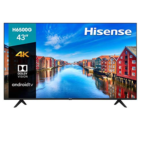 Hisense 43-Inch Class H6570G 4K Ultra HD Android Smart TV with Alexa Compatibility,...