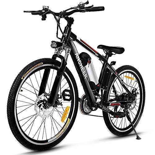 ANCHEER 500W/250W Electric Bike Adult Electric Mountain Bike, 26' Electric Bicycle 20Mph...
