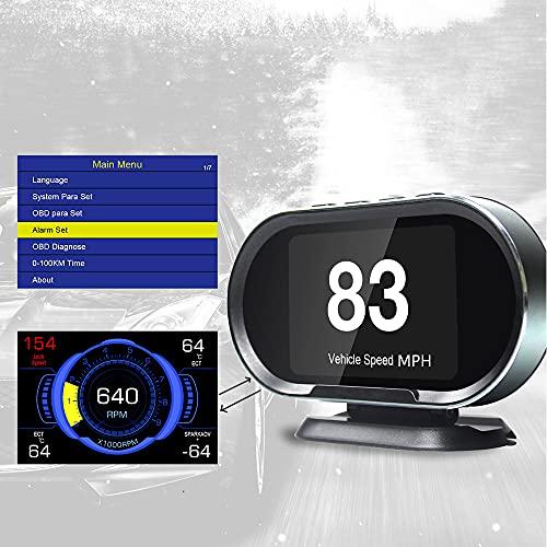 VJOYCAR V70 OBD2 Gauge HUD Heads Up Display, Car Computer OBD ii Scanner Speed Engine...