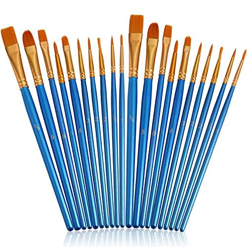 JOINREY Paint Brushes Set,20 Pcs Round Pointed Tip Paintbrushes Nylon Hair Artist Acrylic...