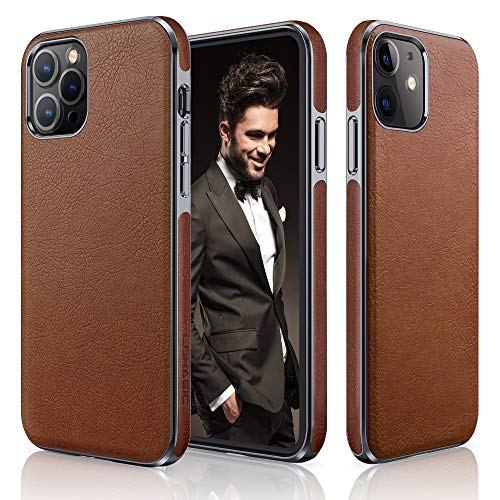 LOHASIC Designed for iPhone 12 Case for iPhone 12 Pro Case, Luxury Leather Business...