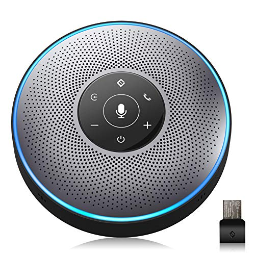 Bluetooth Speakerphone - M2 Gray Conference Speaker w/Dongle, Idea for Home Office 360º...