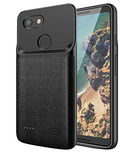NEWDERY Google Pixel 3 Battery Case, 4700mAh Slim Extended Charger Case with TPU Raised...