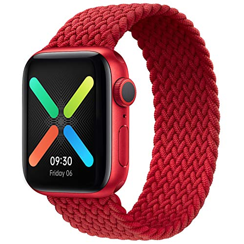 Braided Solo Loop Elastic Strap Compatible for Apple Watch Band 38mm 40mm, Stretchy Sports...