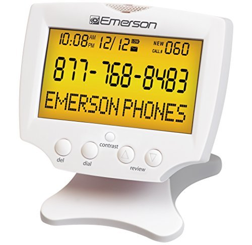 Emerson EM60 Large Display Talking Caller ID Box With 60 Numbers Memory