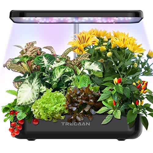 Hydroponic Growing System 12 Pods Home Garden Kit Indoor, Trecaan Smart Herb Garden...