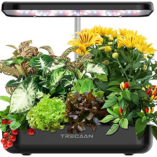 Hydroponics Growing System 12 Pods Indoor Garden, Trecaan Smart Herb Garden Kit with 36W...