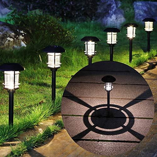 MAGGIFT 6 Lumen Solar Powered Pathway Lights, 6 Pack Outdoor Landscape Lights, Waterproof...