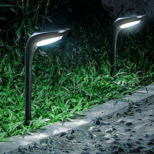 OSORD Solar Pathway Lights Outdoor, 【4 Pack】Waterproof 2-in-1 Solar Powered Garden...