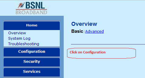 Activate your wireless connection using BSNL modem