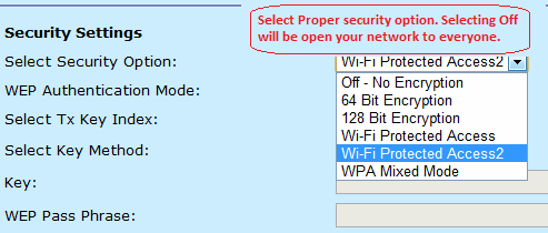 secure your BSNL wireless modem