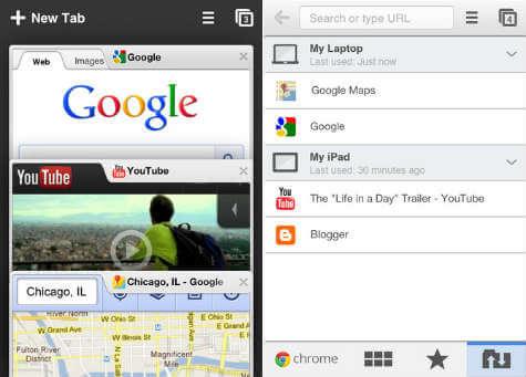 chrome iOS browser