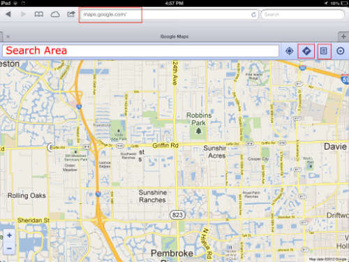 Google Map for iOS 6