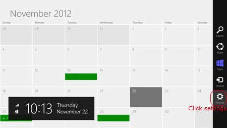 Google calendar to win 8