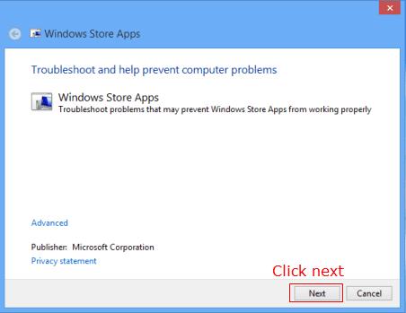 windows 8 apps diagnose