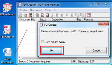 Imposta PDF come stampante
