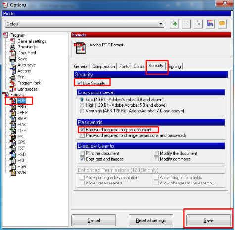 imposta la sicurezza pdf