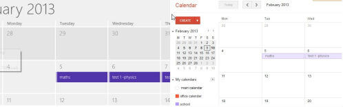 Google secondary calendar to windows 8