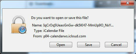 iCal-Save-File