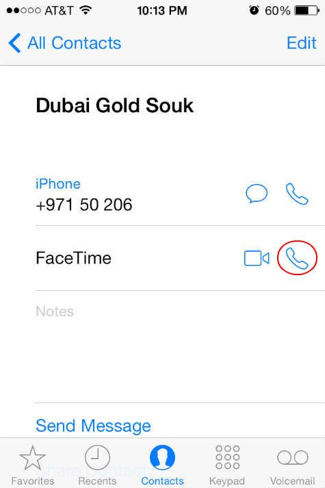 iOS7 FaceTime Audio