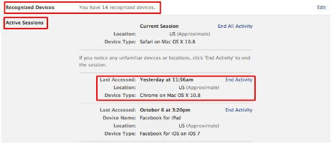 FB Active Sessions