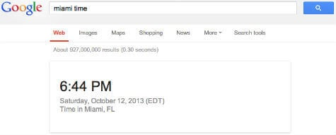 google search local time
