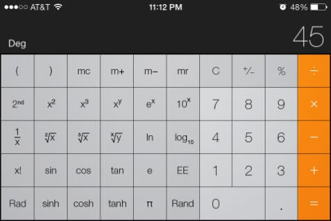 iphone sci calc