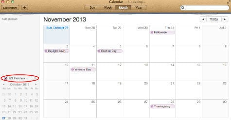 Google calendar on MAC
