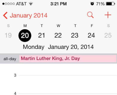 US calendar