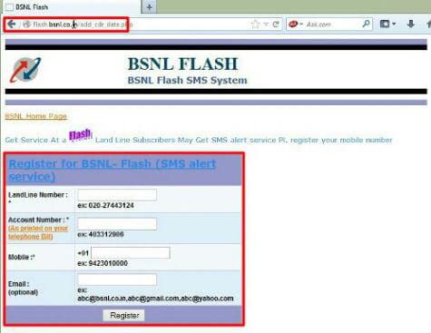 BSNL Online Bill