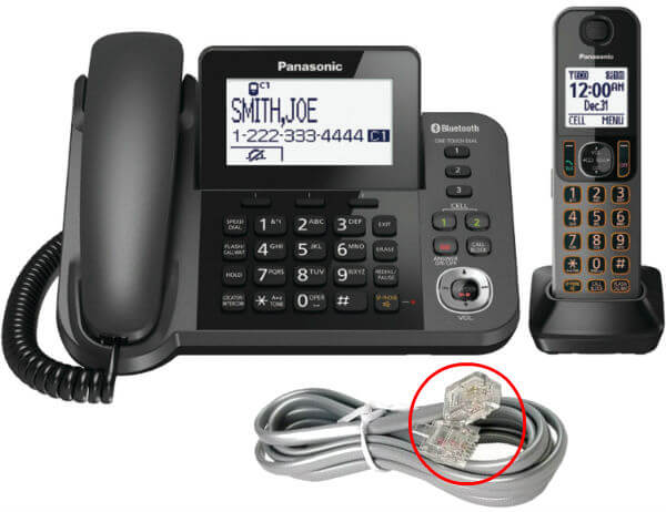 Home Phone with RJ11 Cable