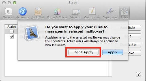 mac mail auto response setup apply rule