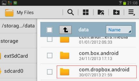 com dropbox folder